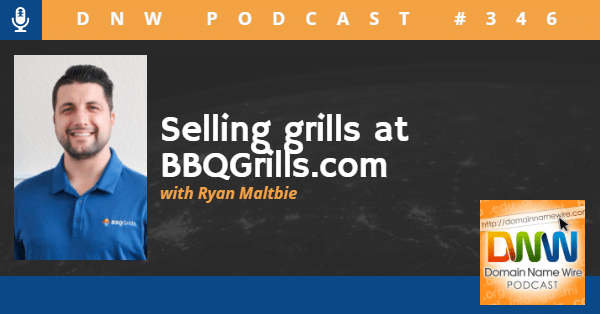 """Picture of Ryan Maltbie of BBQgrills.com with the words """"selling grills at BBQgrills.com"""""""
