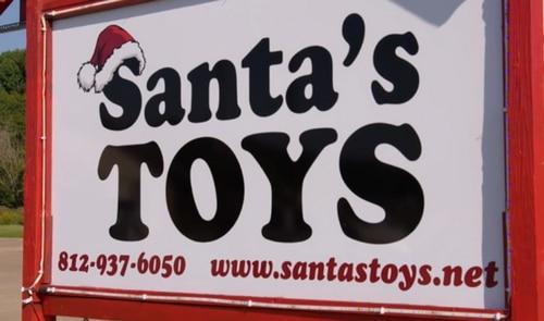 Santa's Toys sign