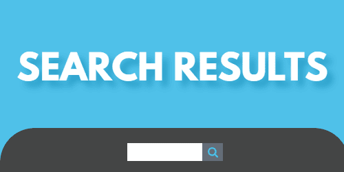 """A graphic with a search box and the words """"search results"""" in white letters on a blue backgorund"""