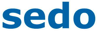 Logo for sedo, with the letters in lower case blue