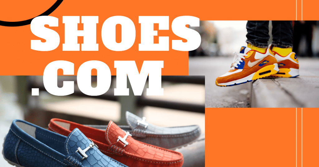"In image that says ""shoes.com"" and has pictures of loafers and atheletic shoes"