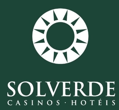 logo for Solverde Casinos with a green background and image of a sun