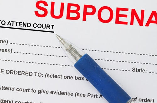 Picture of Subpoena document