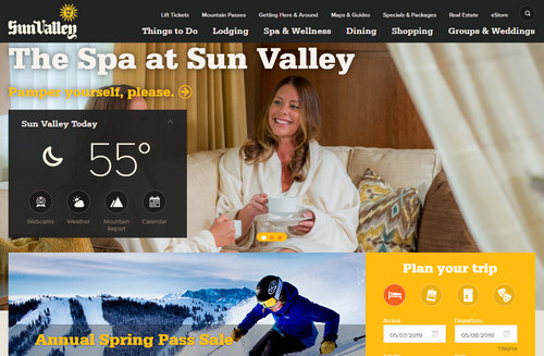 Screenshot of SunValley.com