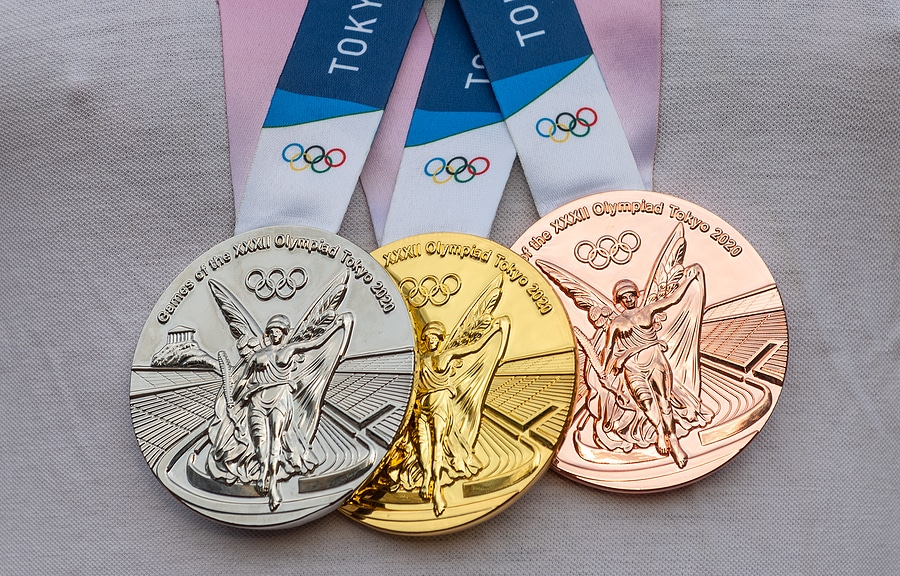 Image of gold, silver and bronze medals