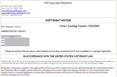 us copyright registry