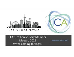Image of Las Vegas and logo for Internet Commerce Association promoting a meetup in Las Vegas