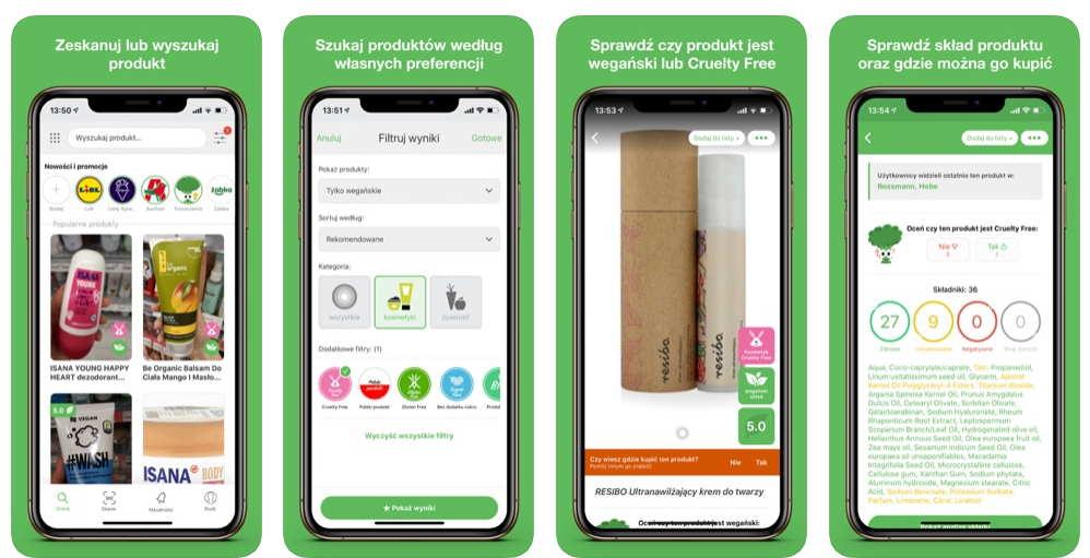 Screenshot of the Veggie app for Vegas