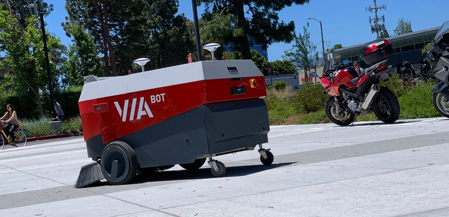 Picture of a ViaBot robotic sweeper