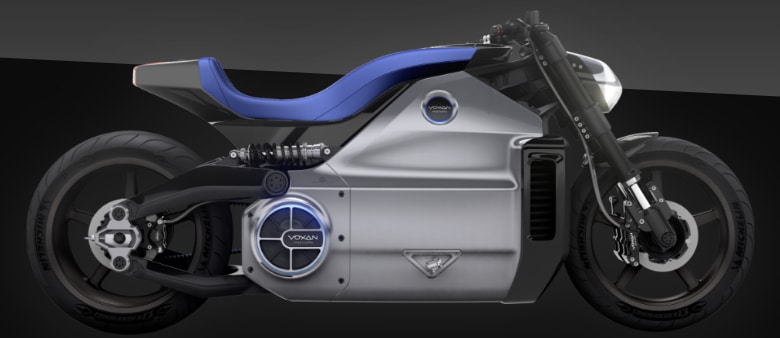 Picture of a Voxan electric motorcycle
