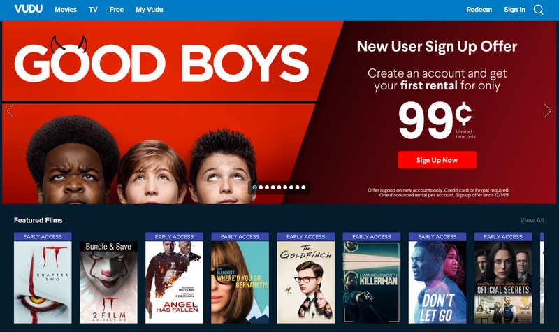 A screenshot of Vudu.com showing Good Boys video